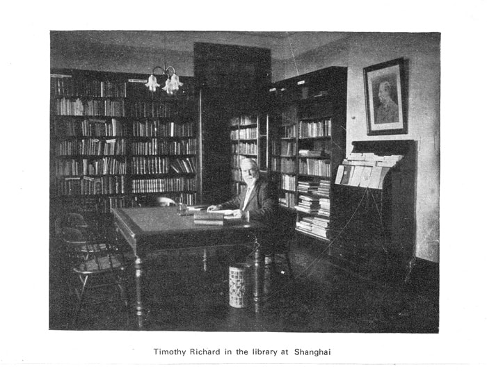 Timothy Richard in the Library at Shanghai